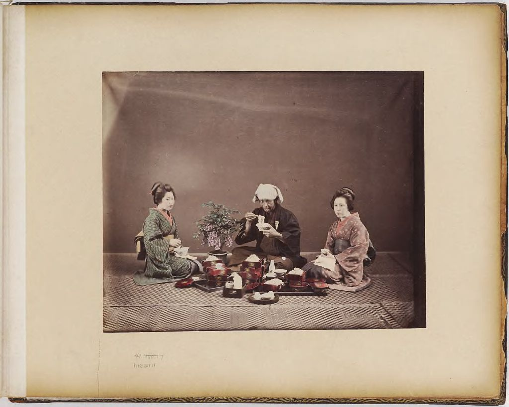 Untitled (Meal Scene With Three Figures)