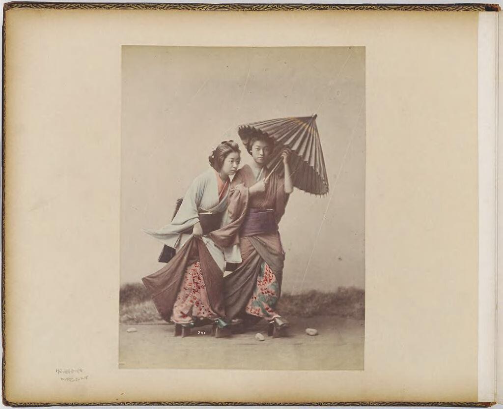 Untitled (Studio Portrait Of Two Women In Rain Scene)