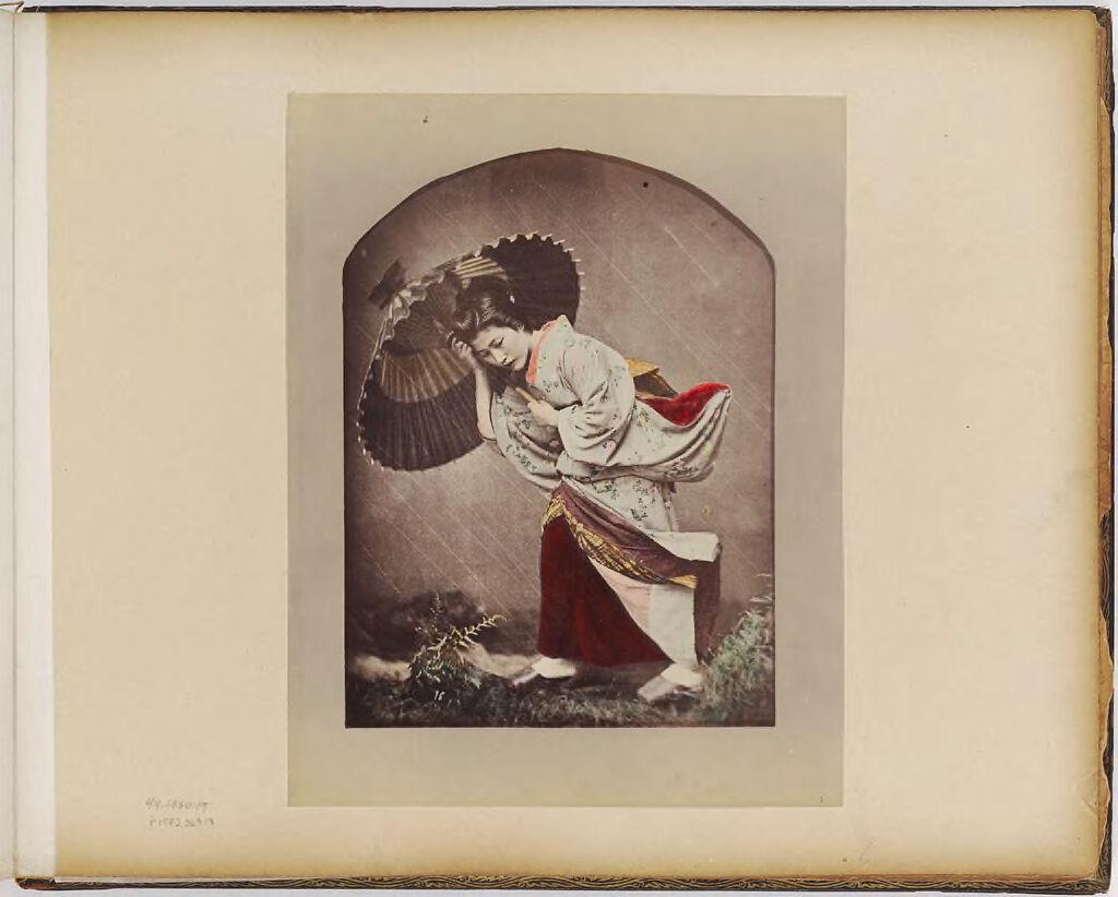 Untitled (Studio Portrait Of Woman In Rain Shower)
