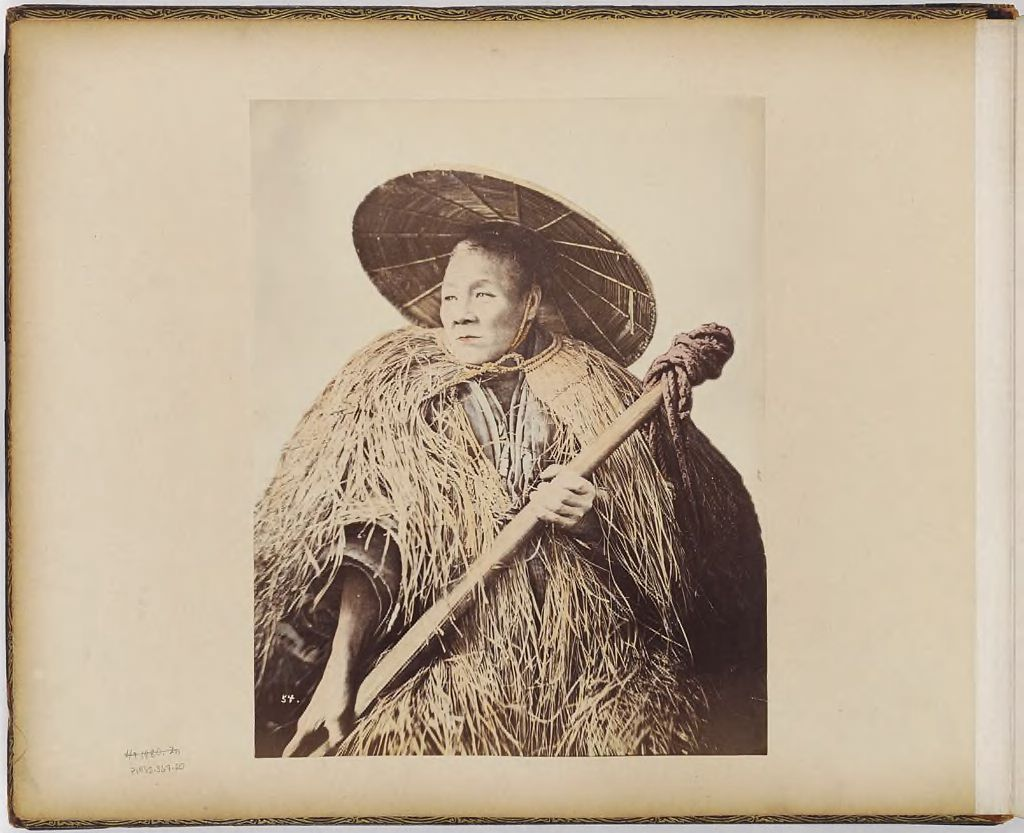 Untitled (Man With Straw Cape And Hat)