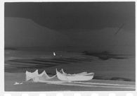 Untitled (fishing boats tied up on the beach, Nazaré, Portugal)