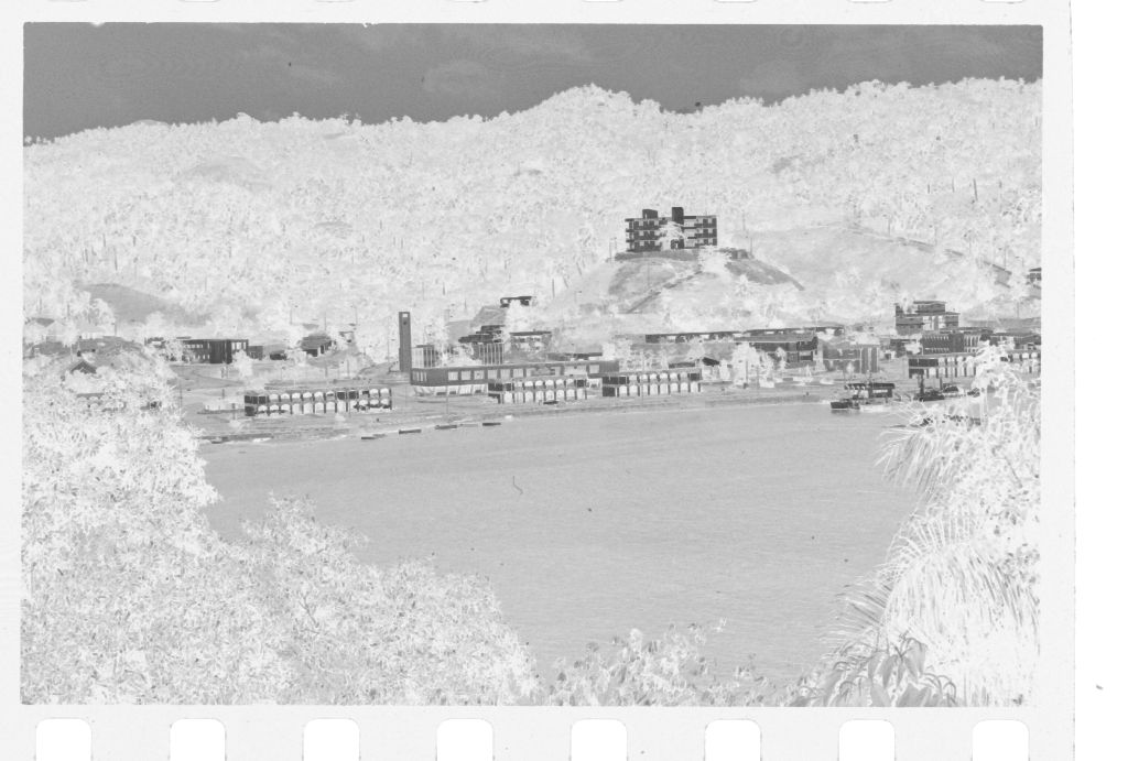 Untitled (View Of Coastal Town From Across Water)