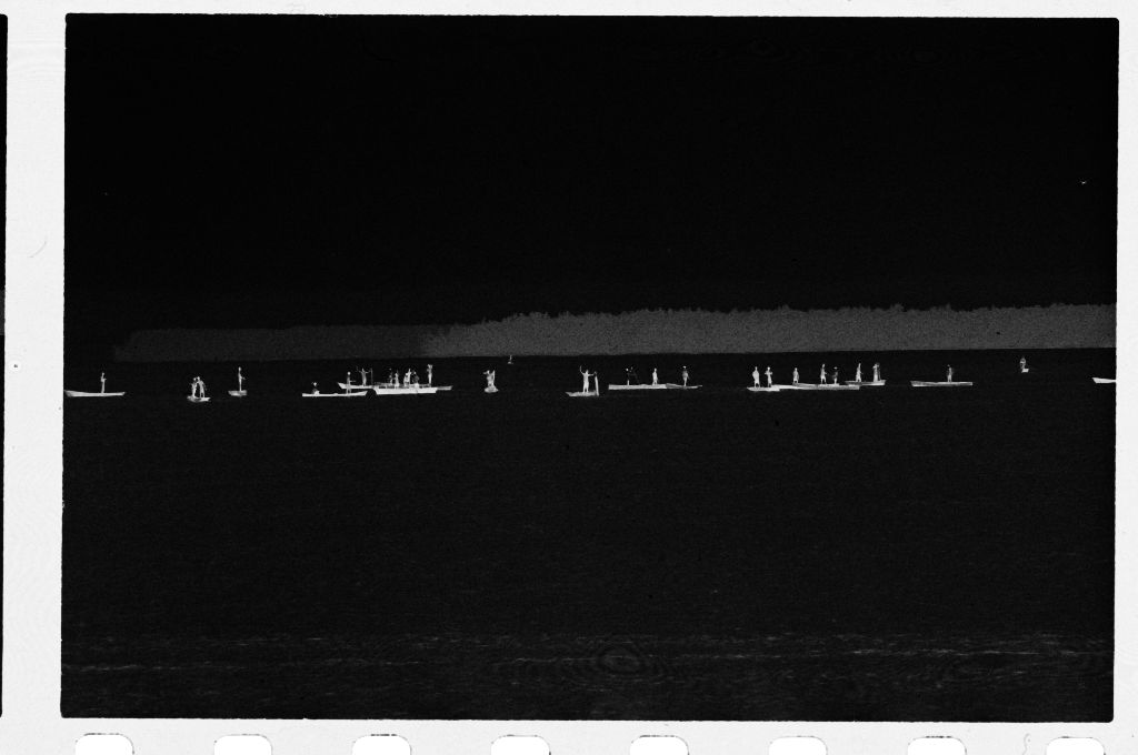 Untitled (View From A Distance Of Boats On Water)