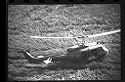 Untitled (Aerial View Of Helicopter Landing In Field, Vietnam)