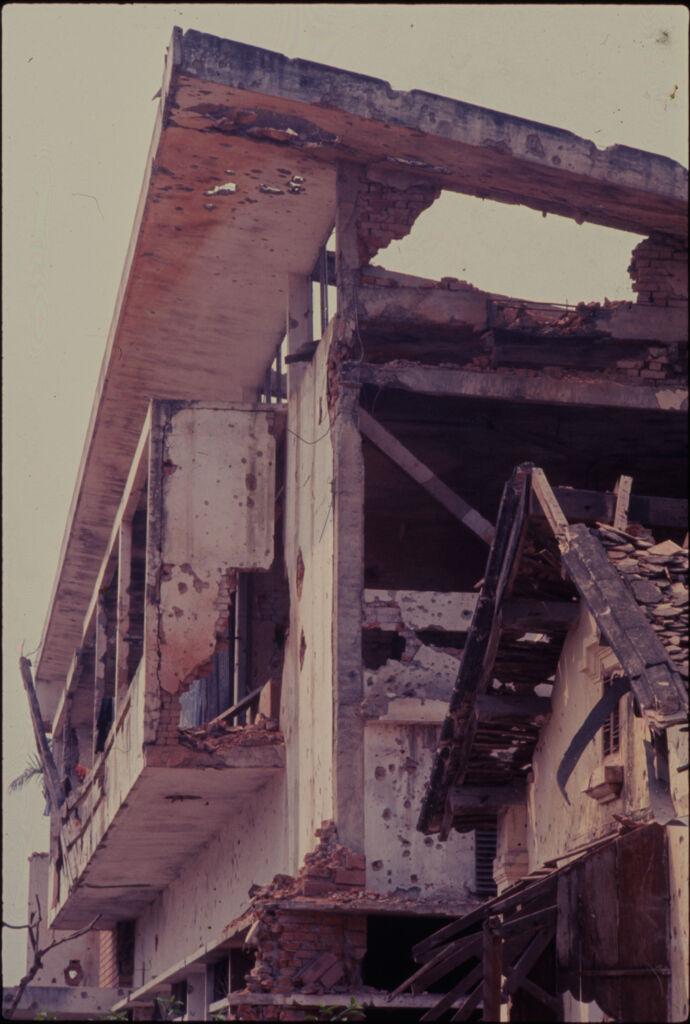 Untitled (Buildings Damaged During Tet Offensive, Hue, Vietnam)