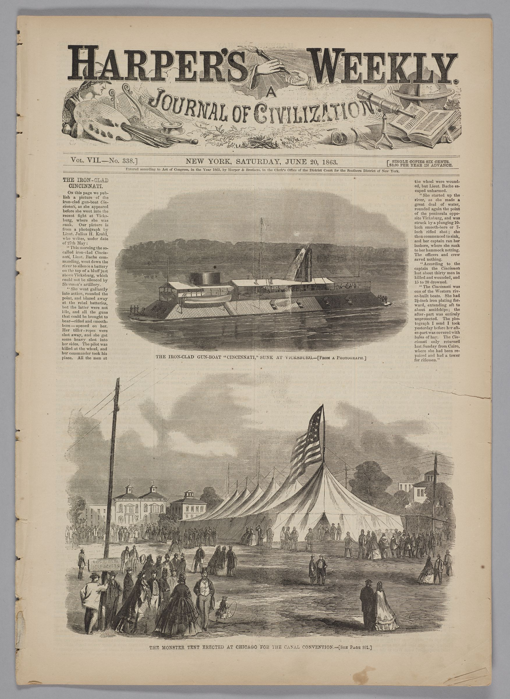 Harper's Weekly, Vol. Vii, No. 338