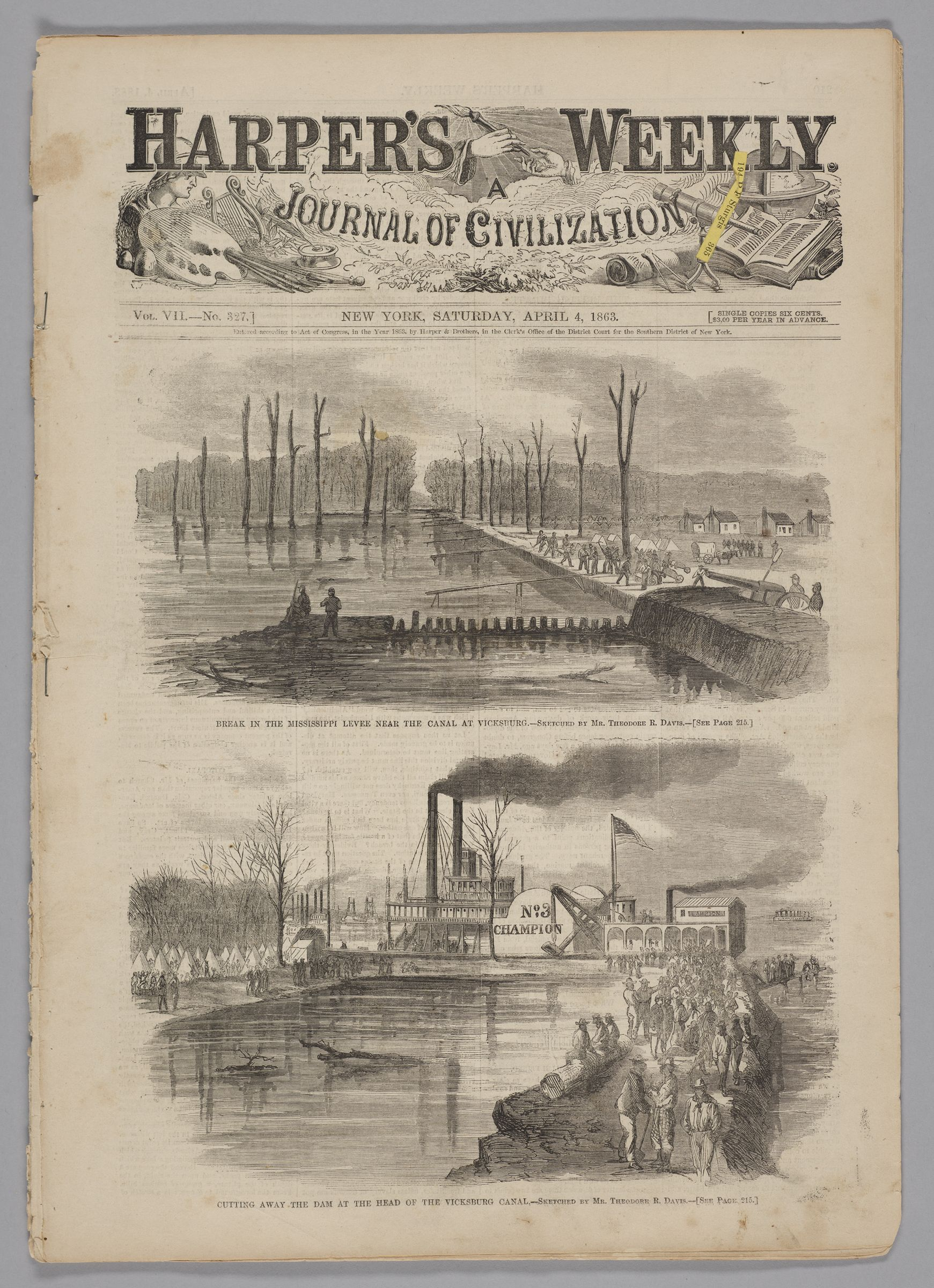 Harper's Weekly, Vol. Vii, No. 327