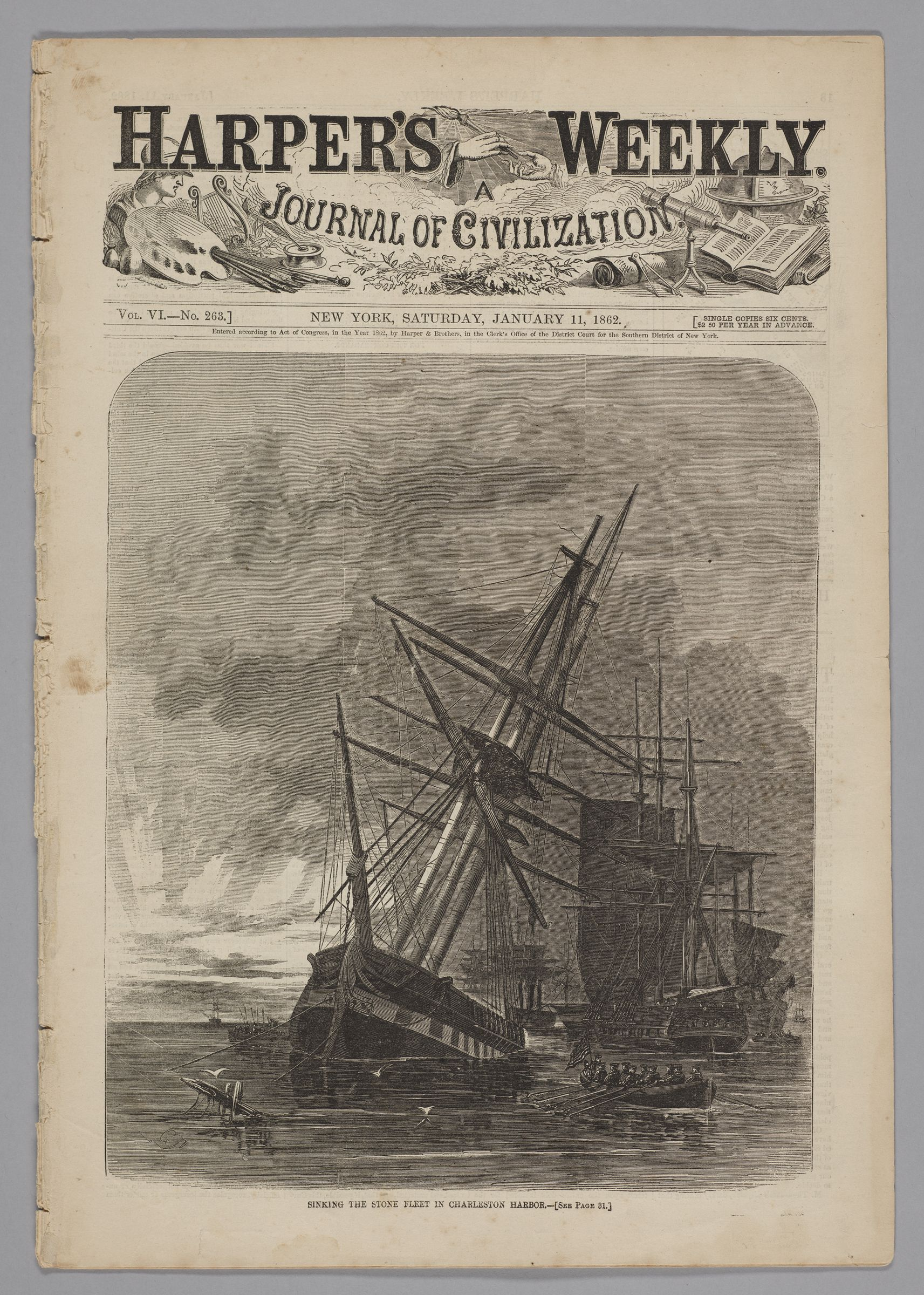 Harper's Weekly, Vol. Vi, No. 263