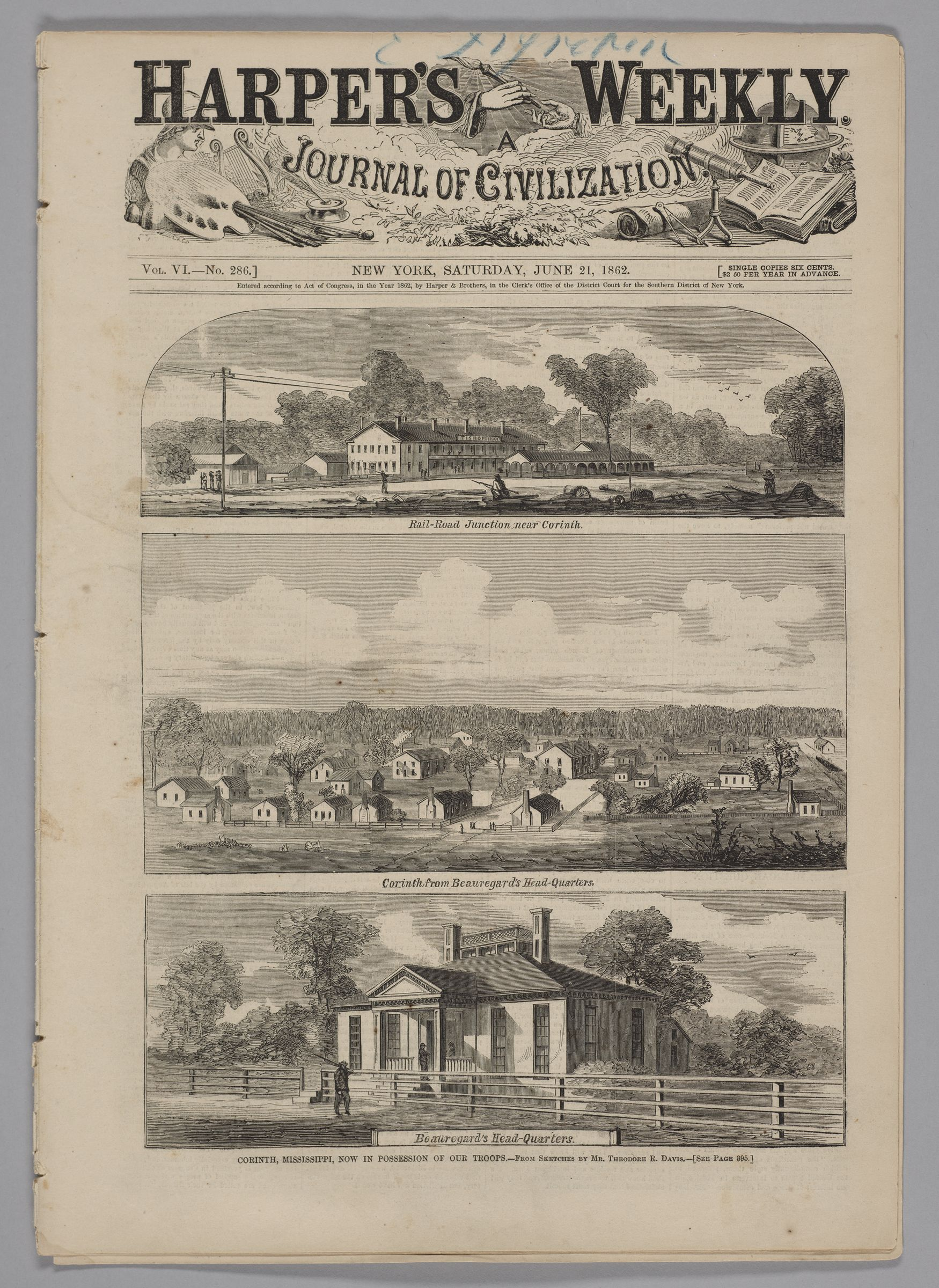 Harper's Weekly, Vol. Vi, No. 286