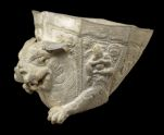 Octagonal cup with the forepart of a lion