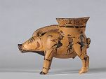 Boar-shaped cup