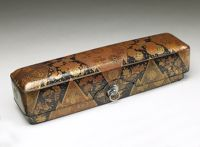 Kôdaiji Scroll Box (Fubako) With Lozenge And Crest Design