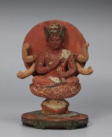 Small Seated Image Of Rãgavidyiarãja (Japanese: Aizen Myōō)