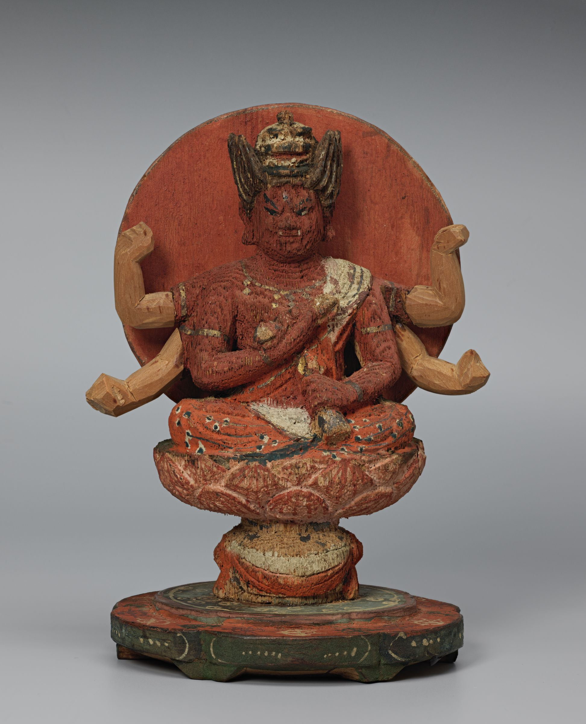 Small Seated Image Of Rãgavidyiarãja (Japanese: Aizen Myōō)