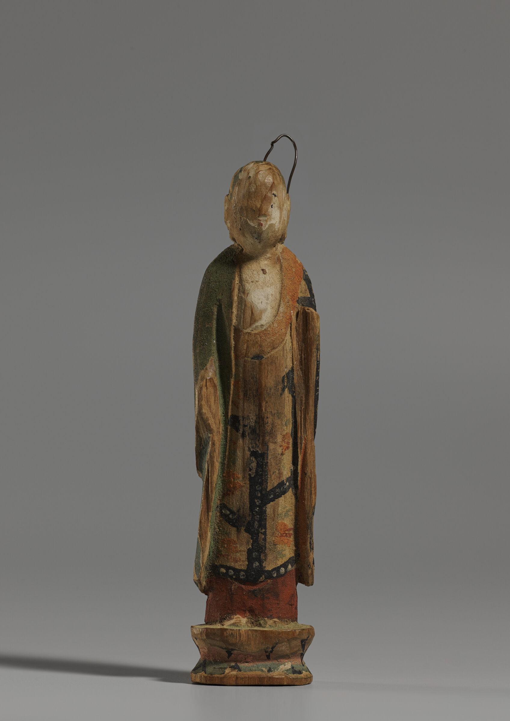 Small Image Of Bodhisattva Ksitigarbha (Japanese: Jizō Bosatsu)