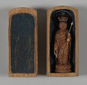 Small Image Of Eleven-Headed Avalokitesvara Bodhisattva (Japanese: Jūichimen Kannon) In A Cylindrical Shrine