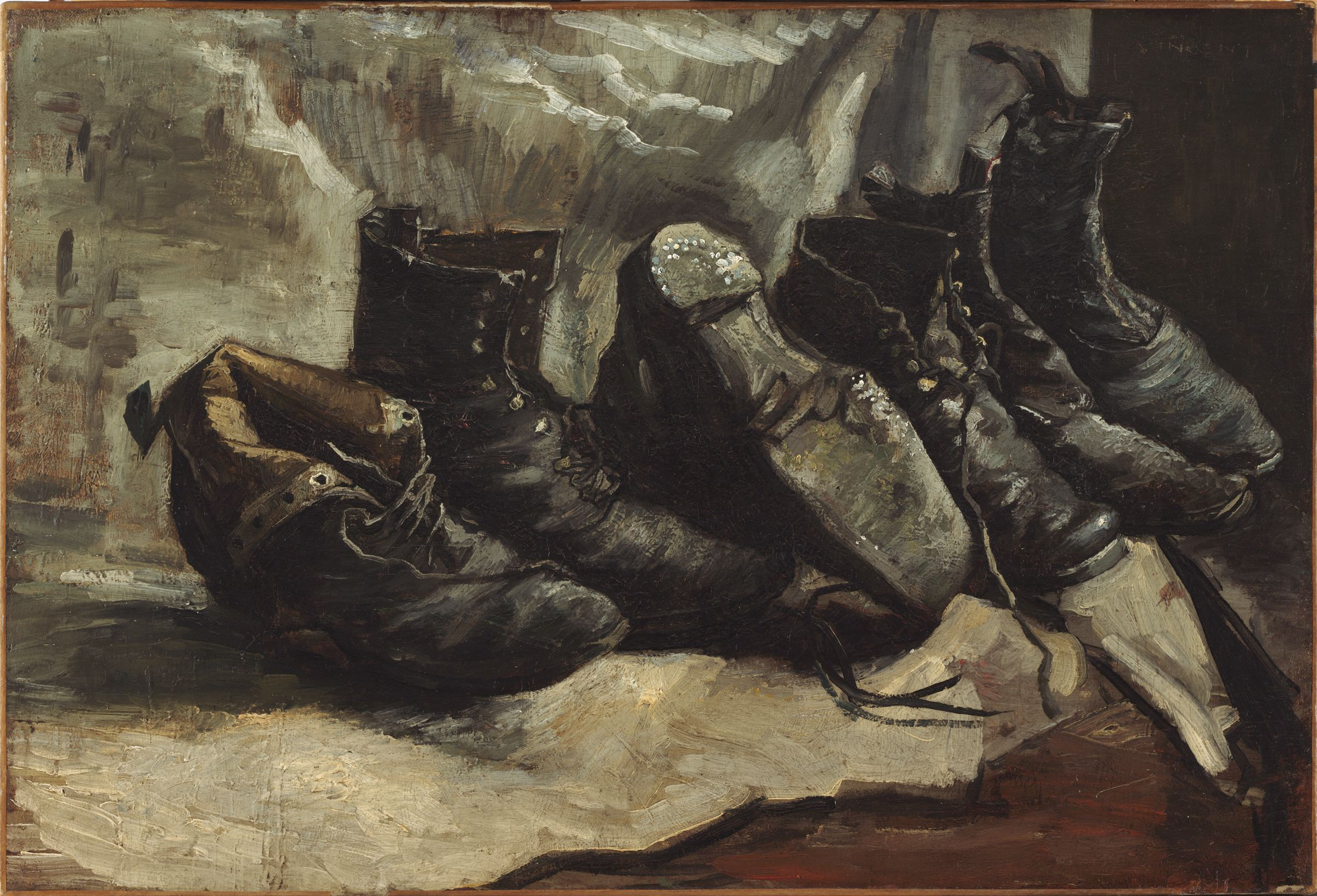 From The Harvard Art Museums Collections Three Pairs Of Shoes