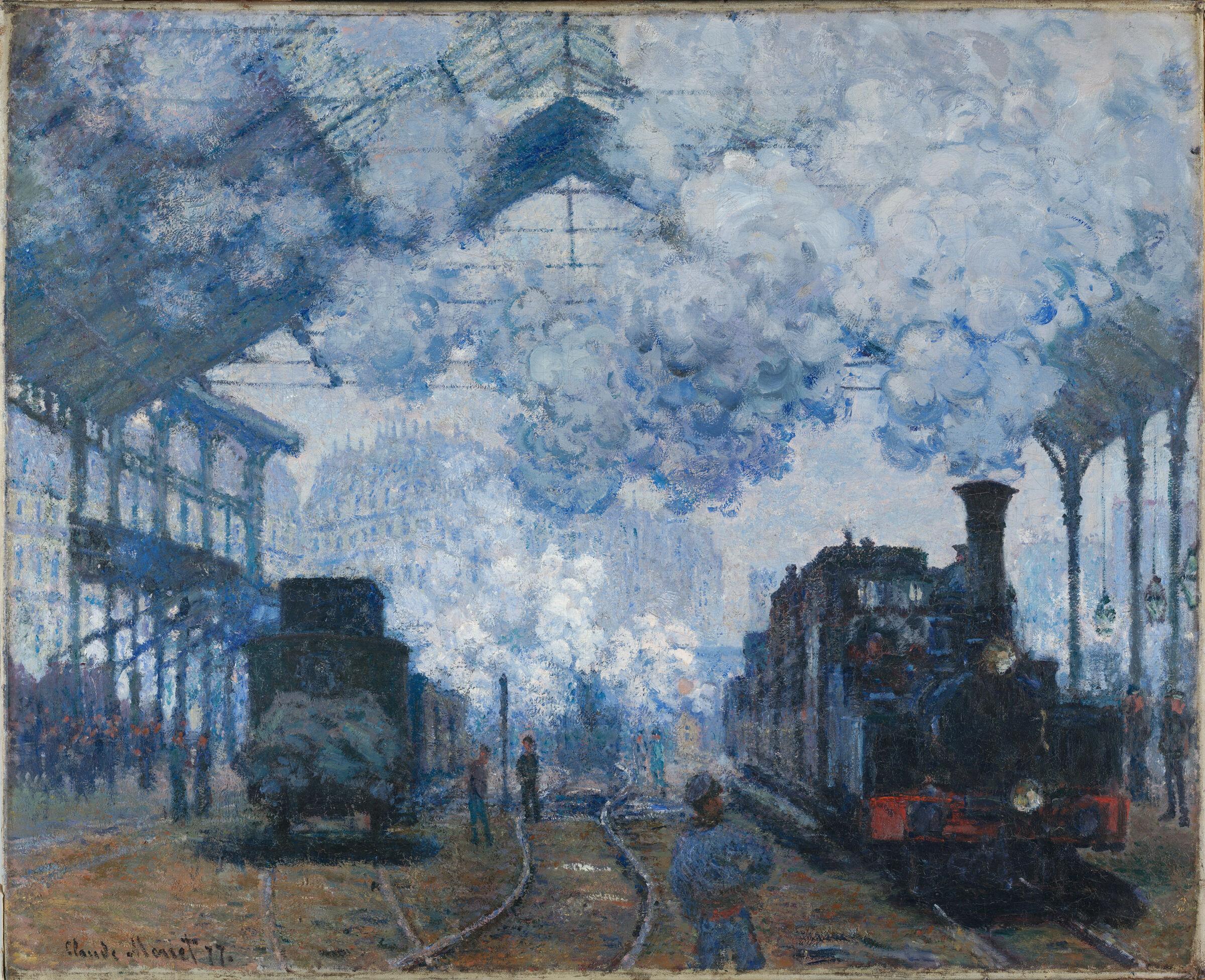 The Gare Saint-Lazare: Arrival Of A Train