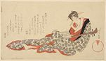 Woman with Shamisen Reading