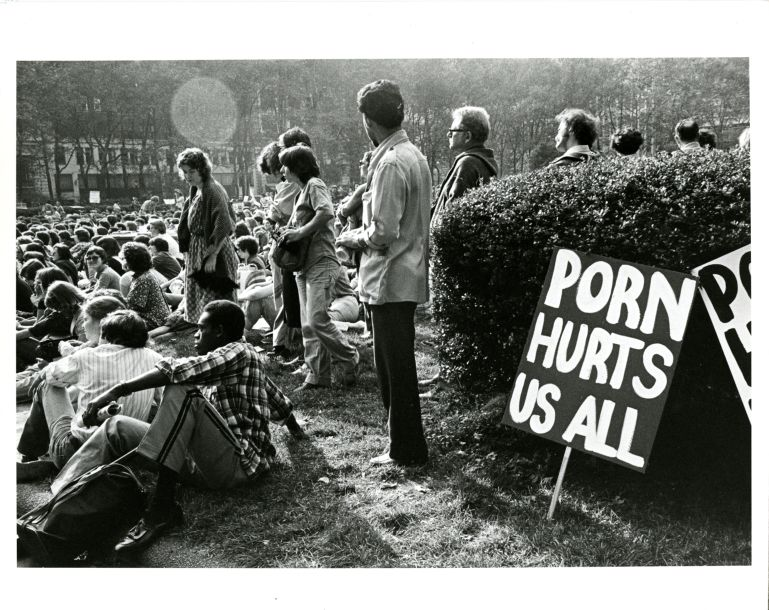 Crowd at anti-pornography rally