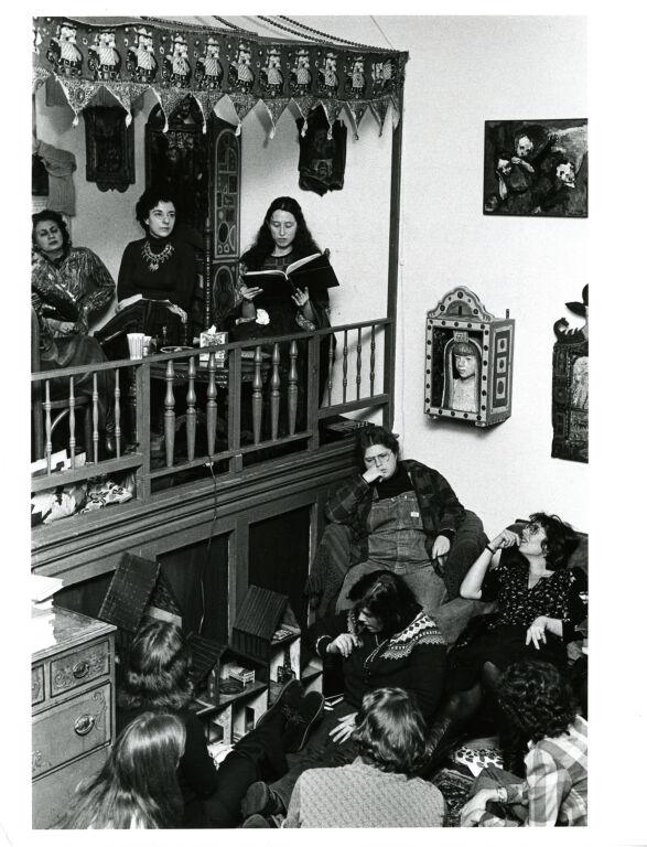 Noan Balakian, Gloria Orenstein, and Erika Duncan at The Woman's Salon.