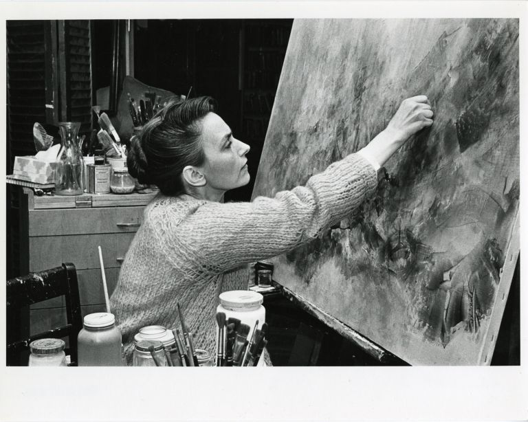 Women at work: Camilla Chambers; artist at work in studio