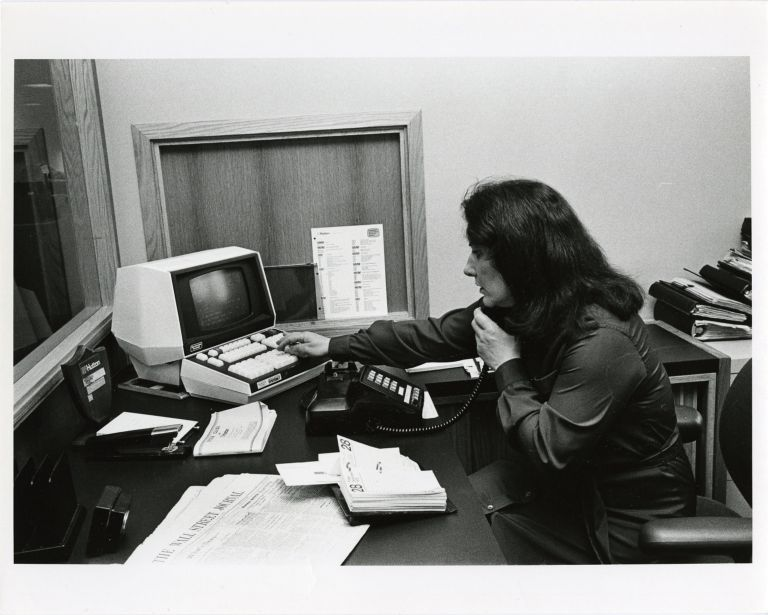 Women at work: stockbrocker, E.F. Hutton.
