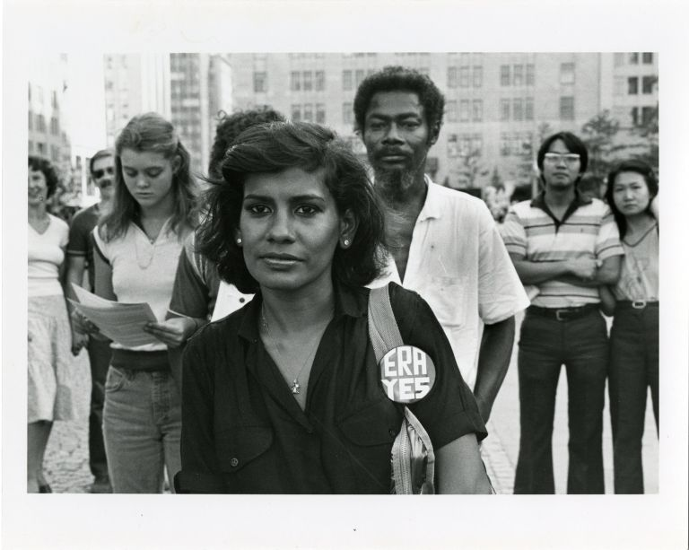 Protesters at pro-ERA Demonstration and Women '80 Demonstration