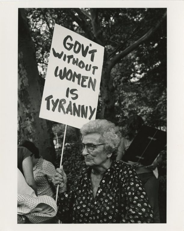 The Gray Panthers and other grassroots organizations address the issues surrounding ageism, including inequality in hiring practices, protecting access to medicaid, medicare, and social security, and economic concerns regarding rent and other cost increases. Also included here is a portrait of Isola Dubic, a suffragist supporting the modern women's movement.