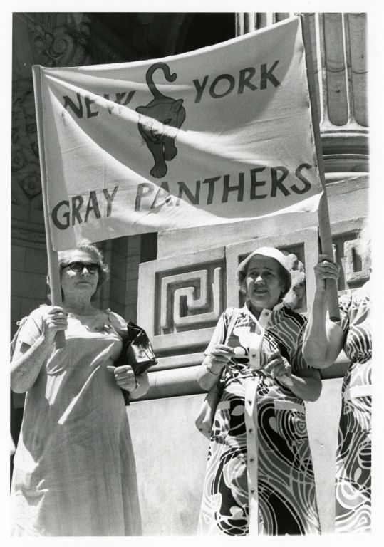 Gray Panthers demonstrate for the ERA