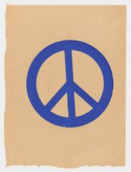 [Blue peace sign], 1969