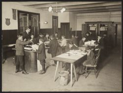 Italian House, Children's Aid Society--office-boy's class