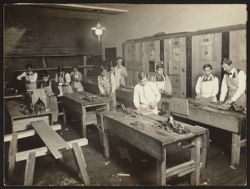 Italian House, Children's Aid Society--carpentry class