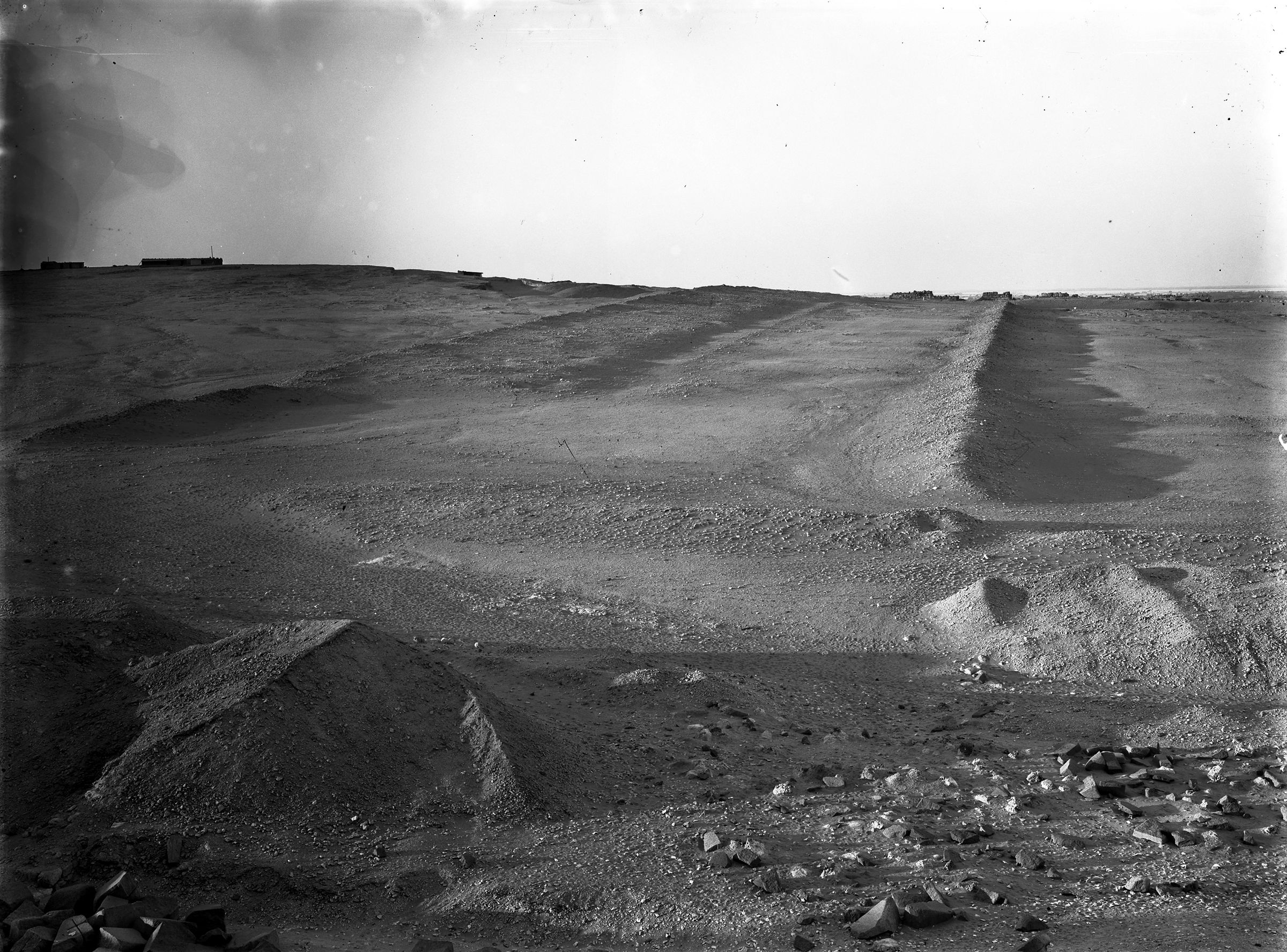 Khafre Pyramid Complex: Site: Giza; View: Giza, Enclosure Wall