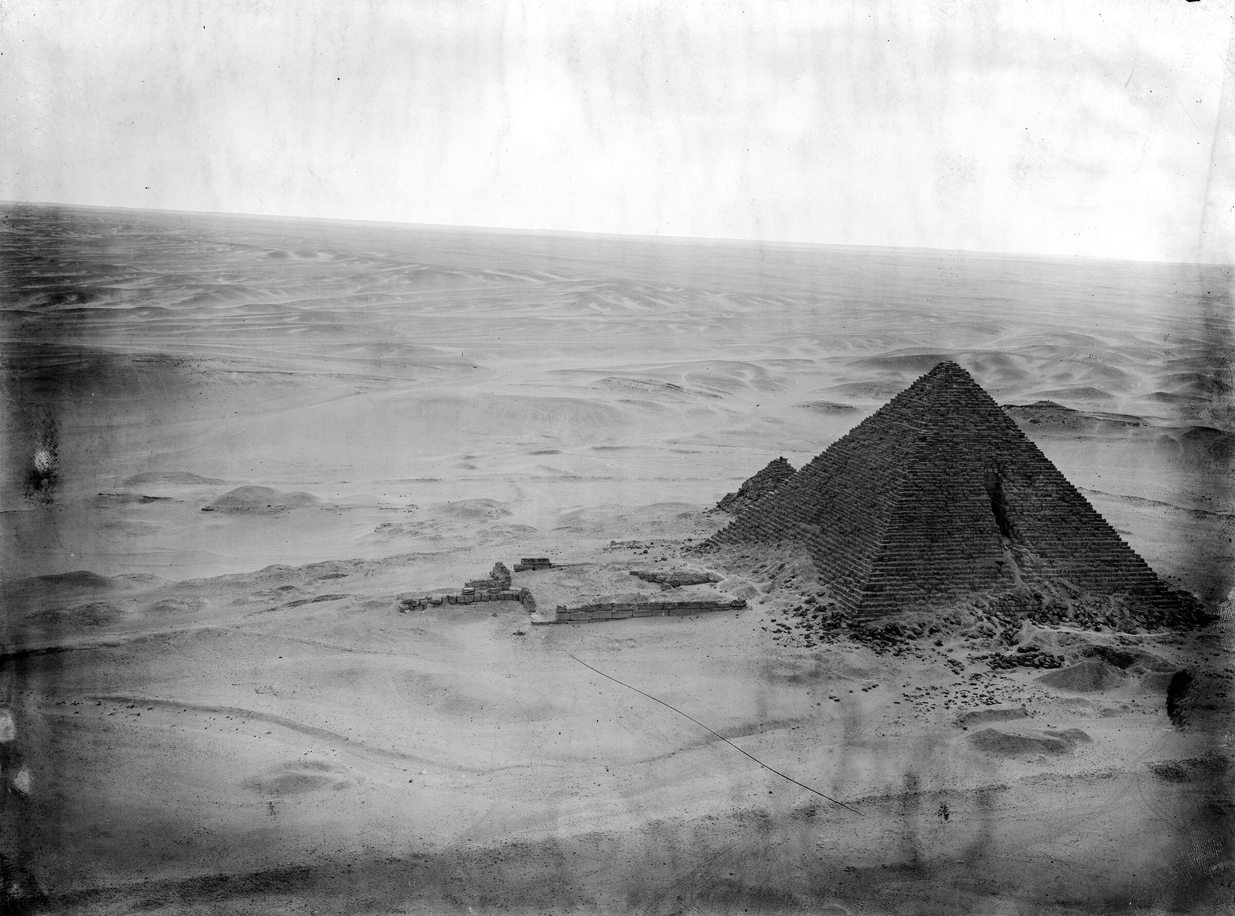 Menkaure Pyramid Complex: Site: Giza; View: Menkaure Pyramid, Menkaure pyramid temple