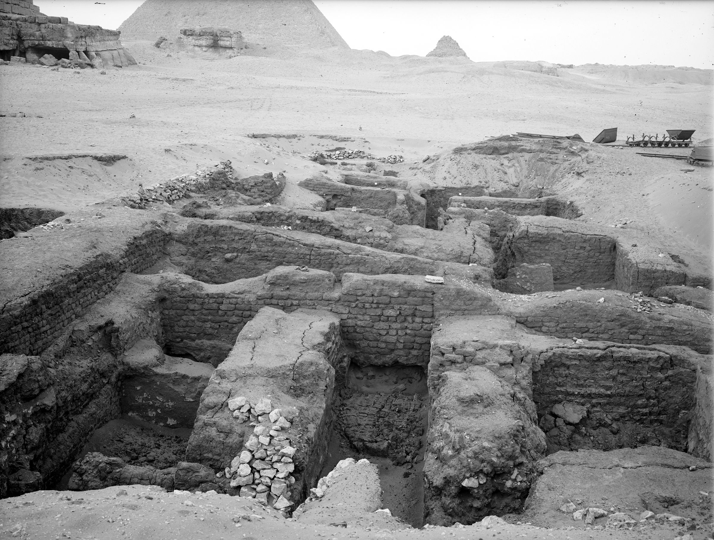 Menkaure Pyramid Complex: Site: Giza; View: Menkaure valley temple