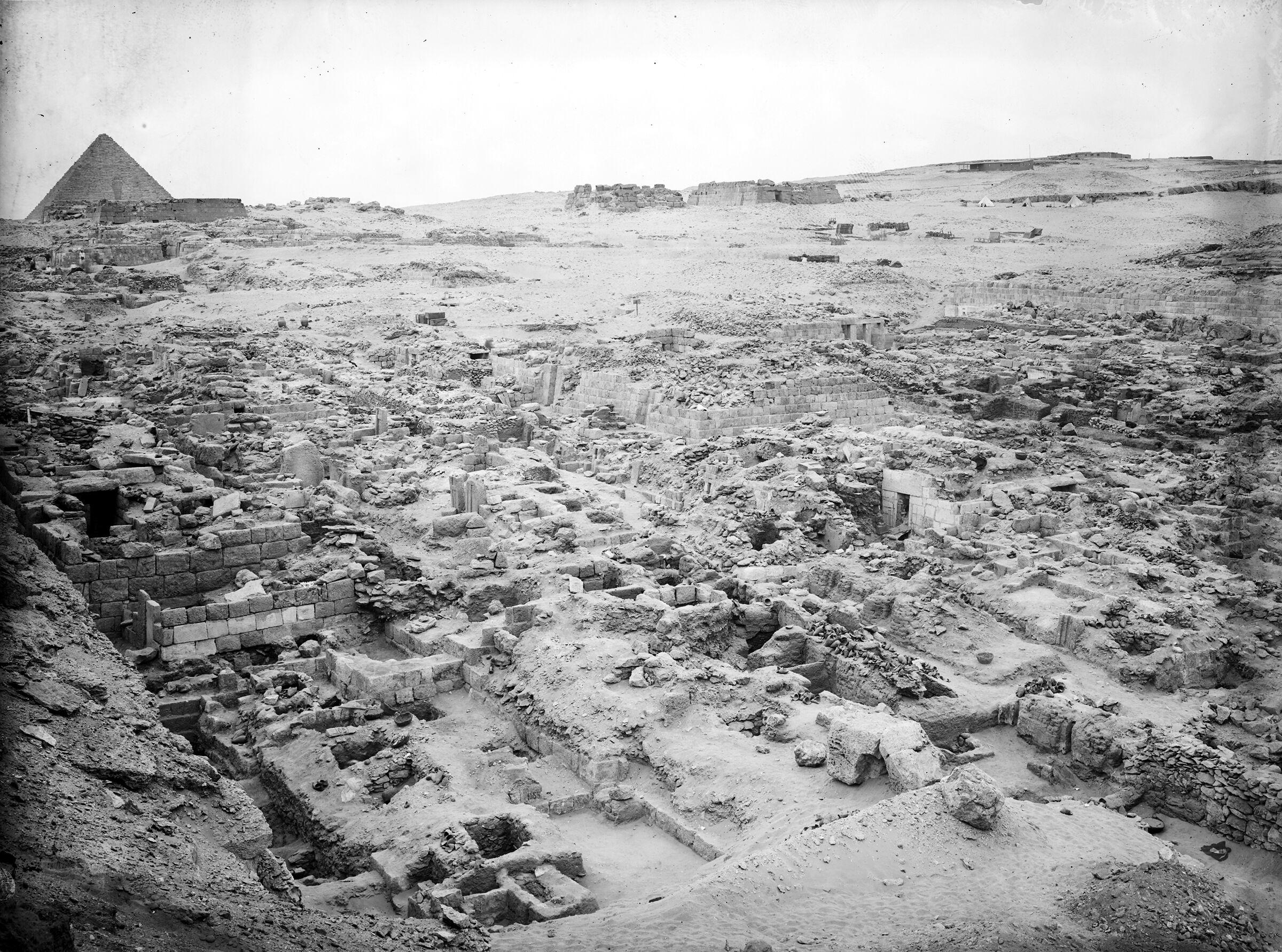 Western Cemetery: Site: Giza; View: G 1057, G 1052, G 1051, G 1058, G 1055