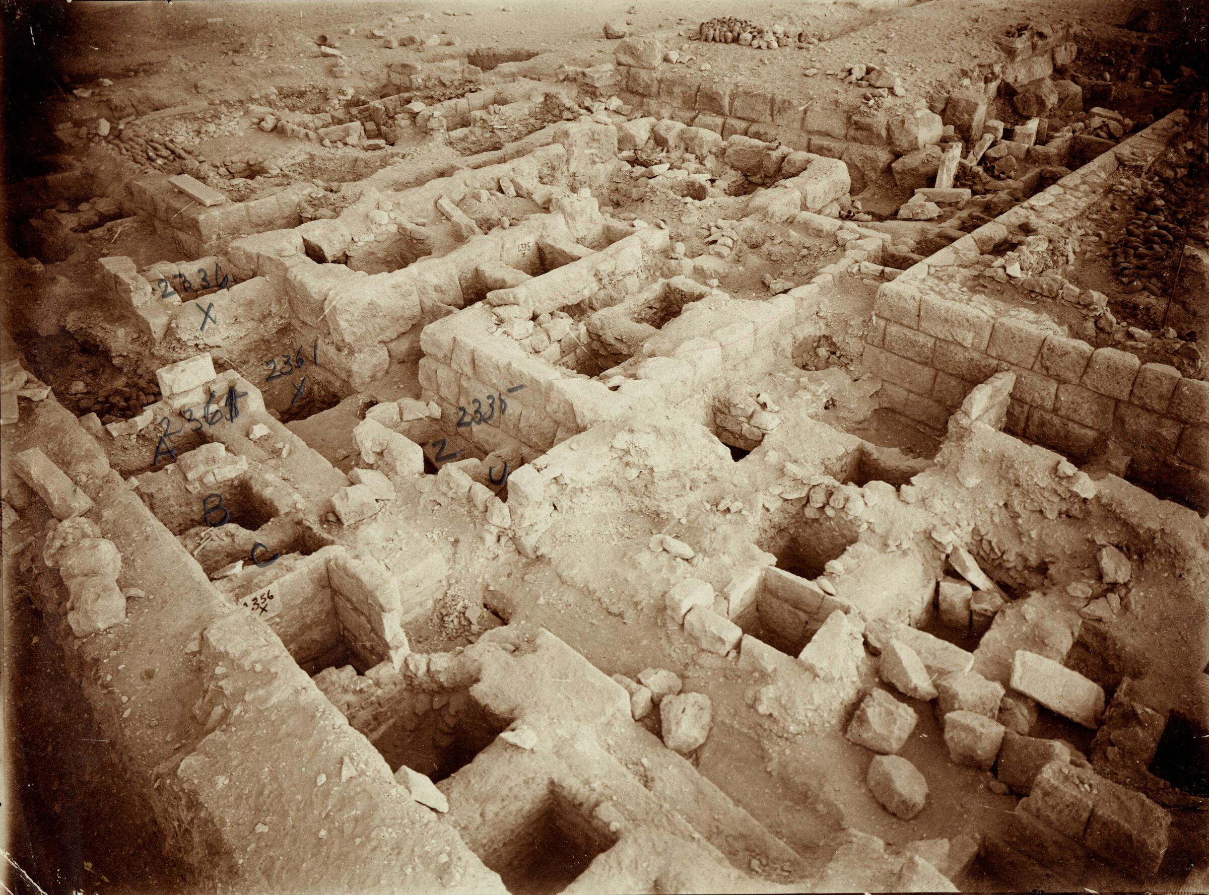 Western Cemetery: Site: Giza; View: G 2361, G 2356, G 2335, G 2336, G 2327, G 2330 = G 5380
