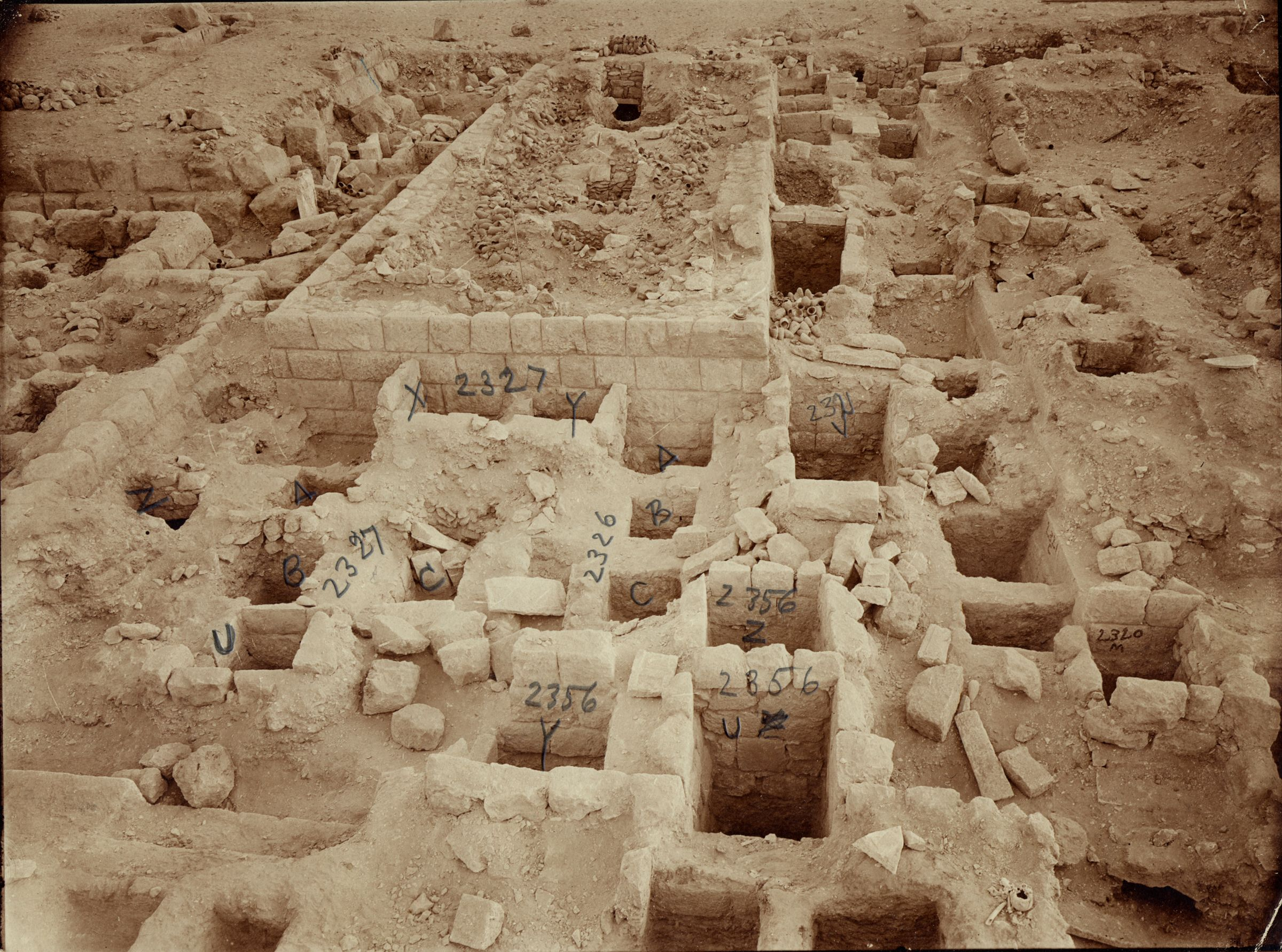 Western Cemetery: Site: Giza; View: G 2330 = G 5380, G 2356, G 2327, G 2326, G 2321, G 2320 = G 5280