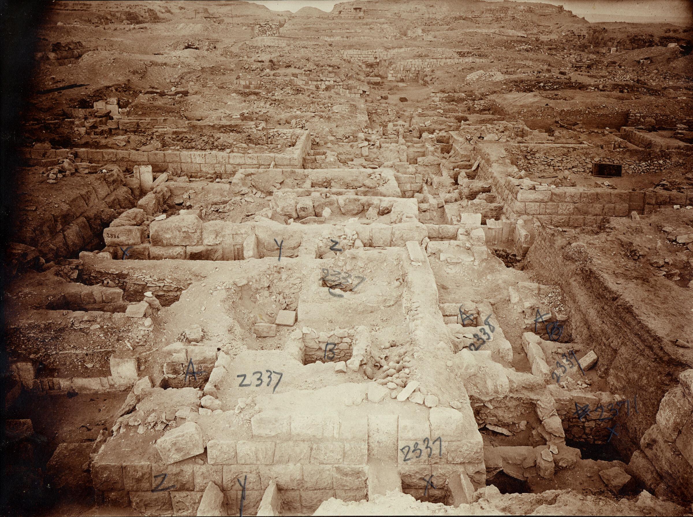 Western Cemetery: Site: Giza; View: G 2337, G 2336, G 2335, G 2338, G 2339