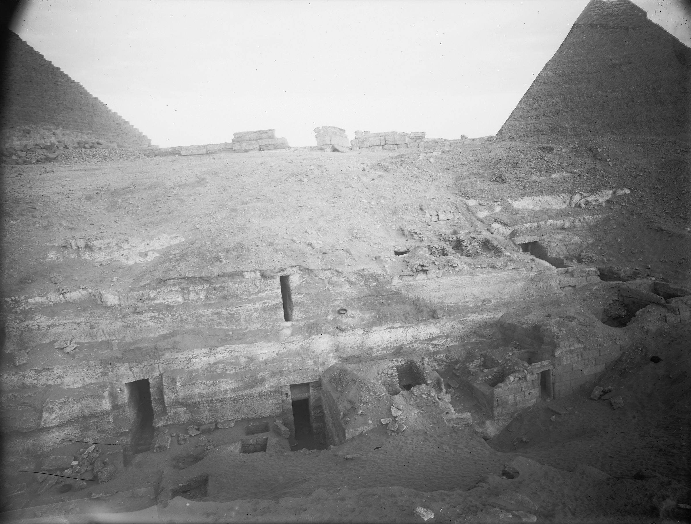 Menkaure Quarry Cemetery: Site: Giza; View: MQ 121, MQ 130, MQ 132, MQ 133, MQ 102