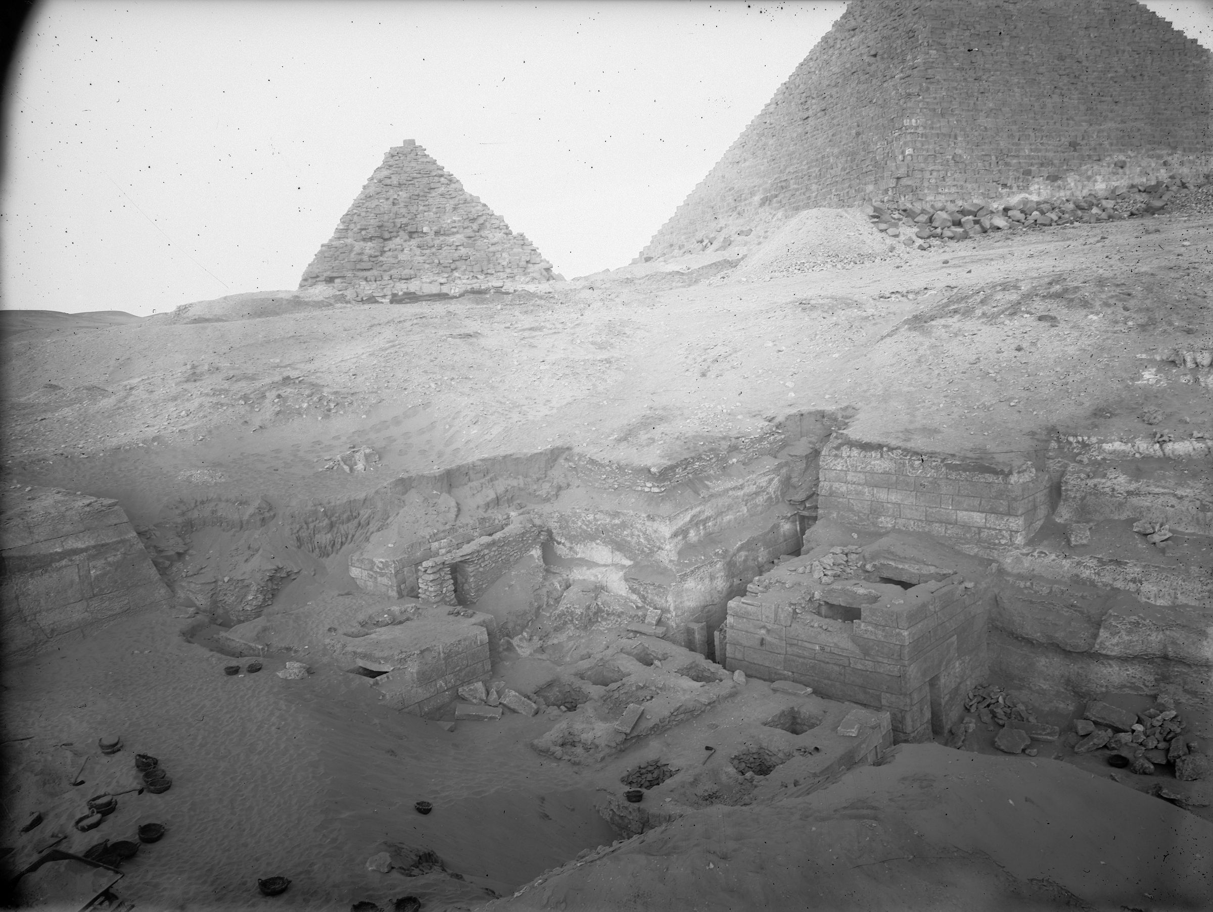Menkaure Quarry Cemetery: Site: Giza; View: MQ 105, MQ 120, MQ 124, MQ 134, MQ 135, MQ 106
