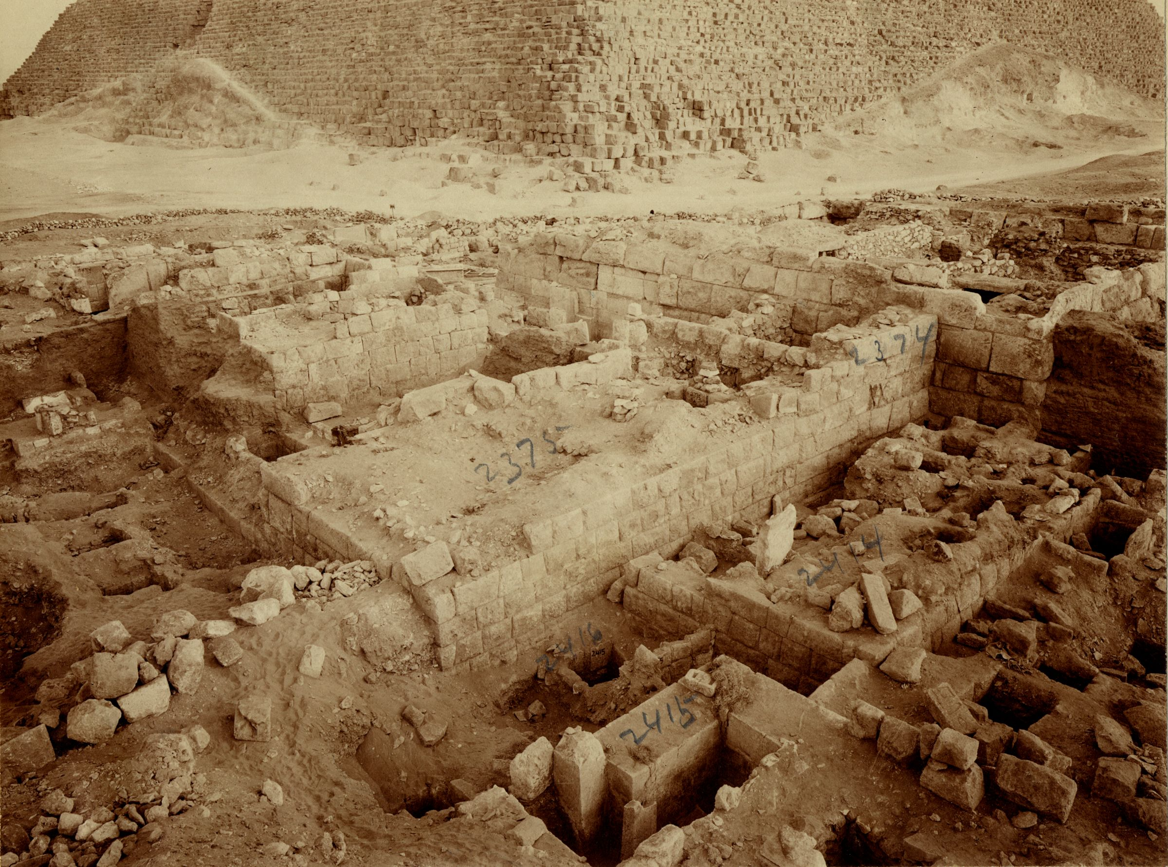 Western Cemetery: Site: Giza; View: G 2375, G 2374, G 2417, G 2415, G 2414, G 2413
