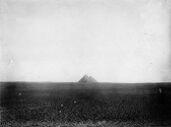 General view: Site: Giza; View: Khufu Pyramid, Khafre Pyramid, Menkaure Pyramid
