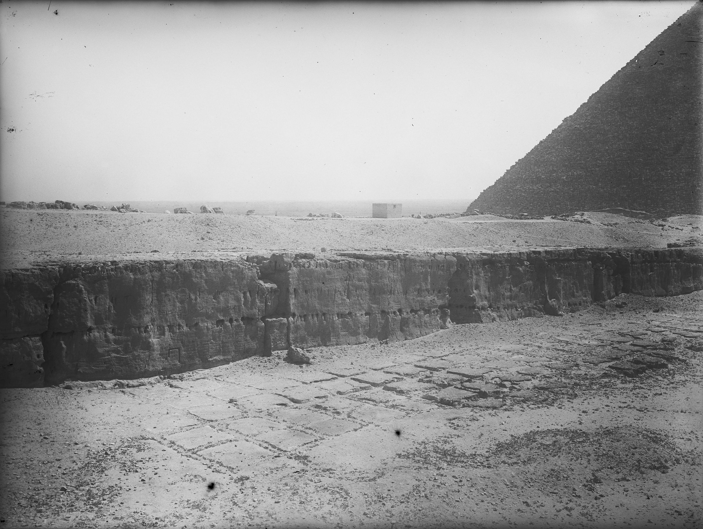 Khafre Pyramid Complex: Site: Giza; View: Khafre quarry