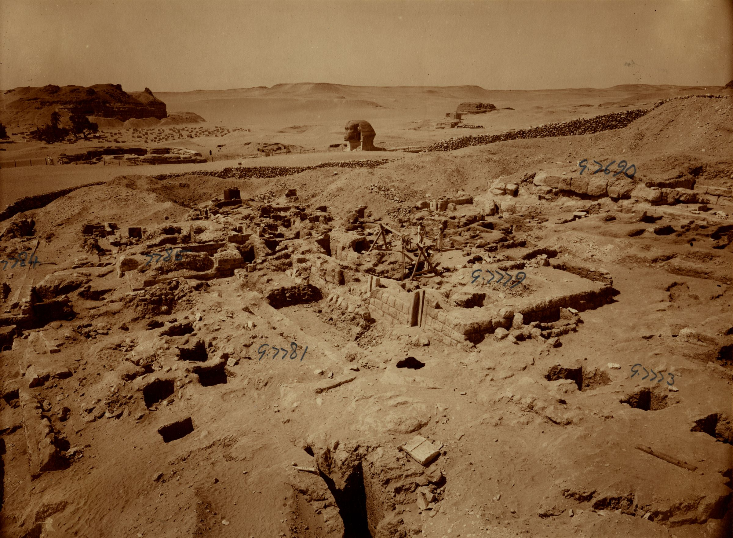 Eastern Cemetery: Site: Giza; View: G 7779, G 7773, G 7781, G 7784, G 7785