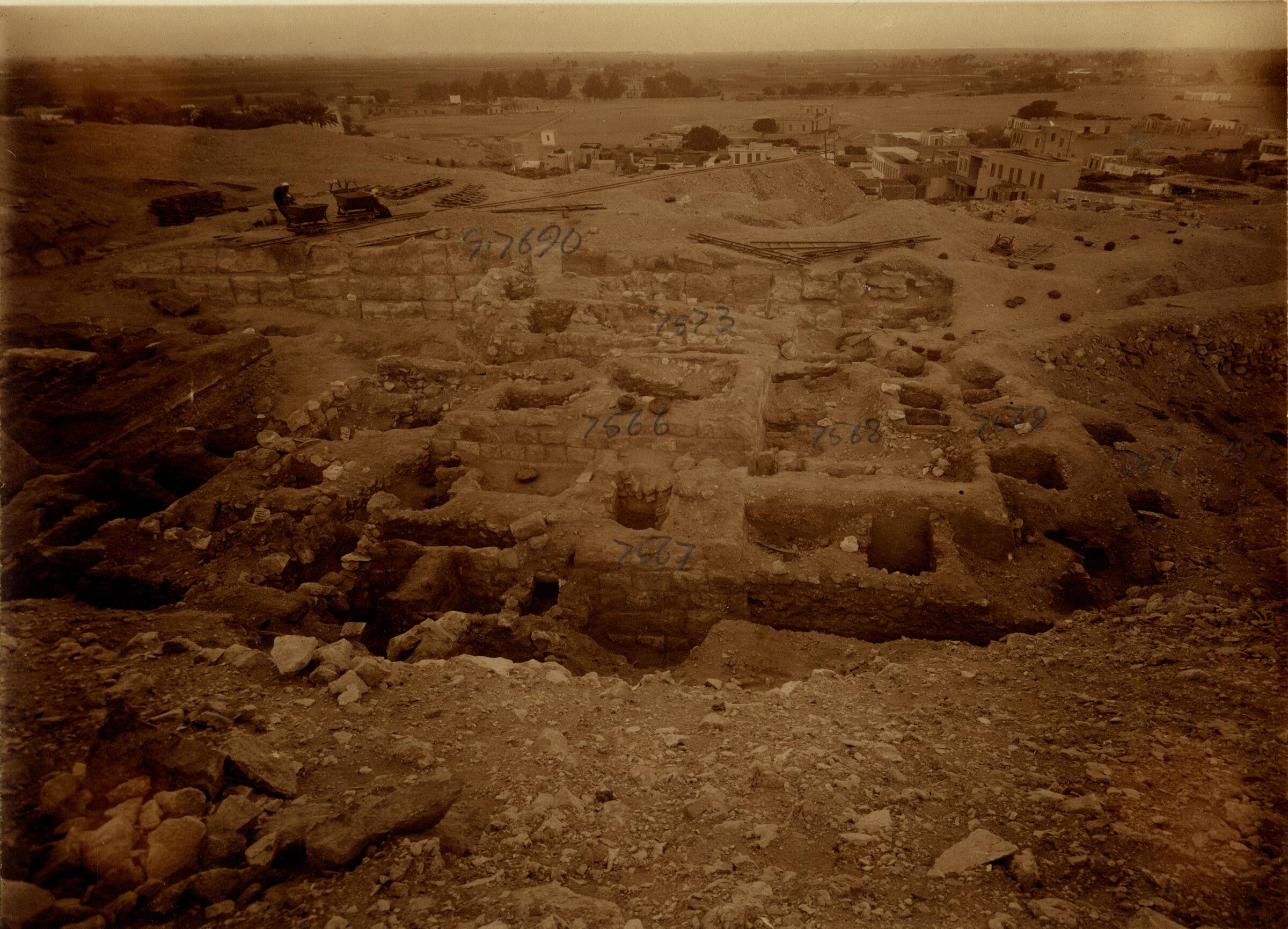 Eastern Cemetery: Site: Giza; View: G 7566, G 7567, G 7568, G 7569, G 7571, G 7573, G 7578, G 7690