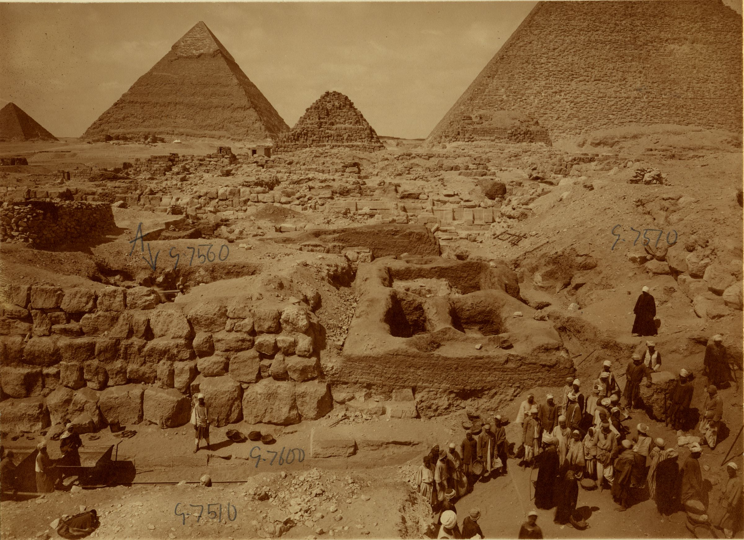 Eastern Cemetery: Site: Giza; View: street G 7600, G 7560, G 7651, G 7510