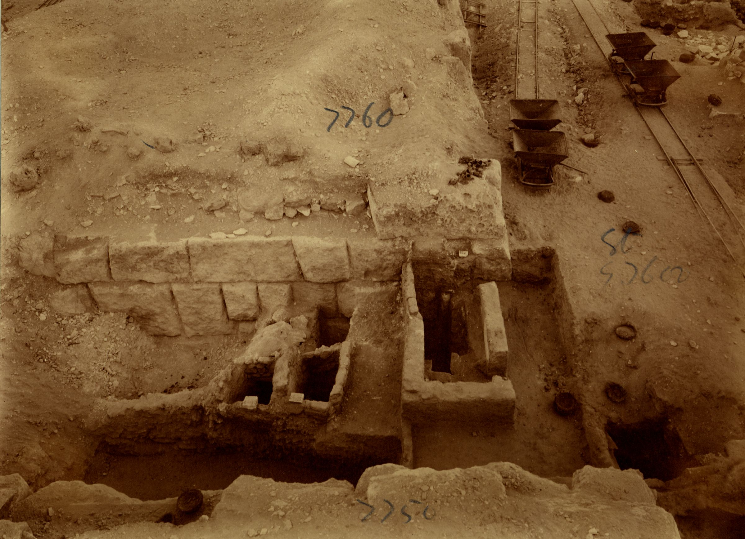 Eastern Cemetery: Site: Giza; View: G 7750, G 7760, street G 7600