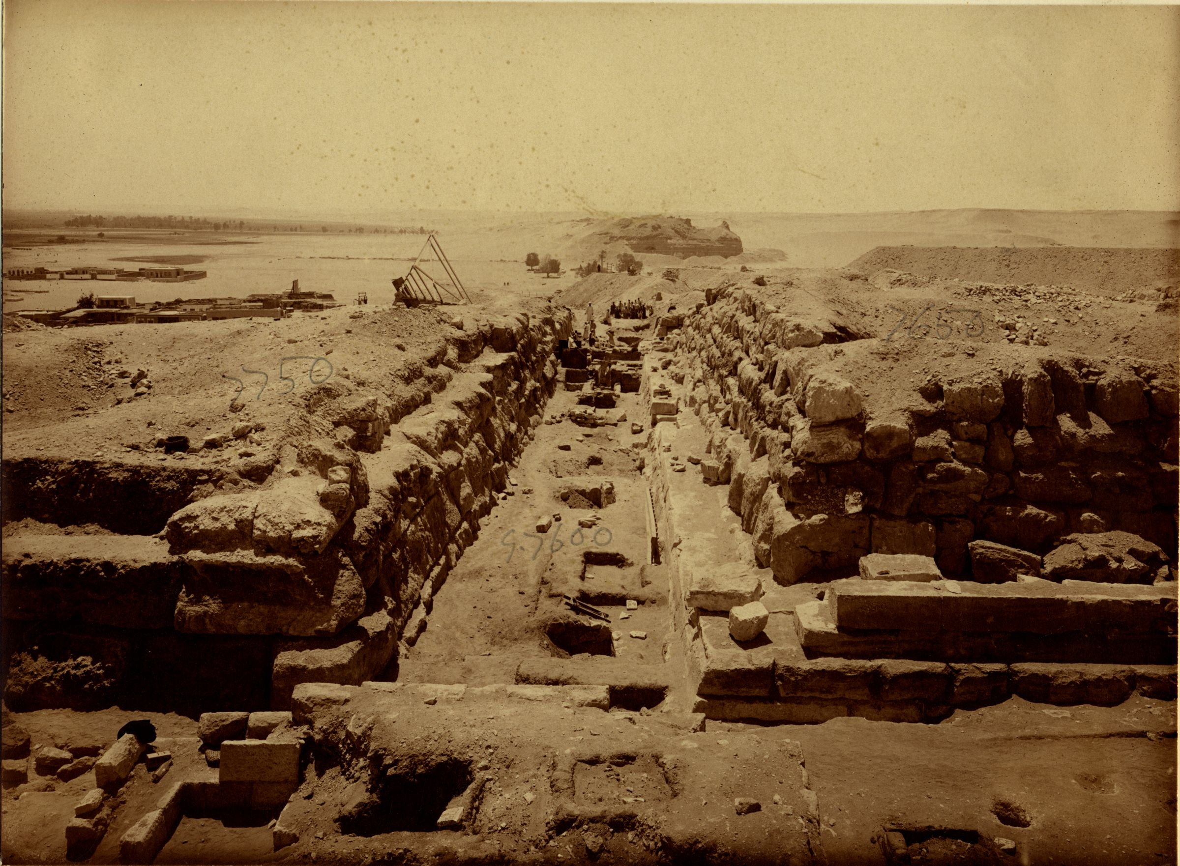 Eastern Cemetery: Site: Giza; View: street G 7600, avenue G 2, G 7750, G 7650